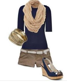 Blue Casual outfit like the top with the scarf