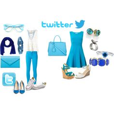 twitter outfit by melanie1421 on Polyvore featuring Diane Von Furstenberg, 7 For All Mankind, Charlotte Olympia, Shoe Republic LA, Converse, Fendi, Balenciaga, Haskell, BERRICLE and Stefanel