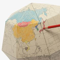 Color in Paper Globe by geografia | MONOQI