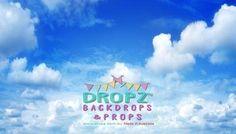 Blue Cloudy Sky Portrait  #backdrops #backdrop #cakedrops #photography #dropzbackdropsaustralia #photobackground #cakedrop #photographybackdrop #vinylbackdrop #studiobackdrop