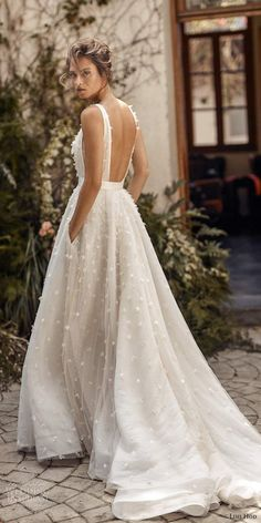 30 Simple Wedding Dresses For Elegant Brides ❤ simple wedding dresses backles., 30 Simple Wedding Dresses For Elegant Brides ❤ simple wedding dresses backless bohemian country lihi hod Source by wed. Wedding Dress Trends, Modest Wedding Dresses, Bridal Dresses, Backless Dresses, Bridesmaid Dresses, Backless Wedding Dresses, Wedding Ideas, Couture Wedding Dresses, Wedding Dress Petite