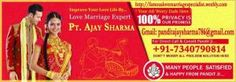 No.1 Love Marriage Specialist Pt.Ajay Sharma, Pandit Ajay Sharma Get online All kind kind of problem solution Like: love marriage,vashikar...