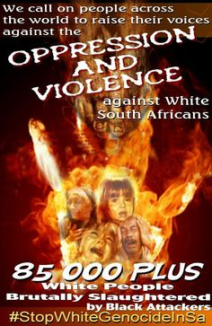 """Watch """"Farm Murders in South-Africa & Why You Should Care…"""" White Genocide in South Africa White Lives Matter, Flesh And Blood, The Dark World, Create Awareness, Force Of Evil, Oppression, South Africa, African, Common Sense"""