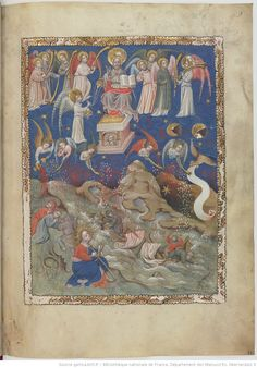 Apocalipsis in dietsche Apocalypse, Book Of Hours, Blessed Virgin Mary, Bnf, Illuminated Manuscript, Miniatures, Painting, Pictogram, Rain