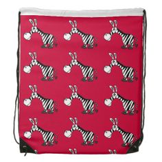Funny Zebra Backpack #zebras #funny #backpacks #aninals And www.zazzle.com/tickleyourfunnybone*