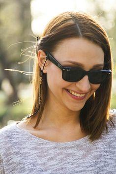 Bizuteria okularowa ModnieNoszone #eyeglasses #jewelry #fashion #sunglasses #ray-ban www.modnienoszone.pl/strona/sesja