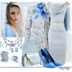"""Sky Blue"" by mcheffer on Polyvore"