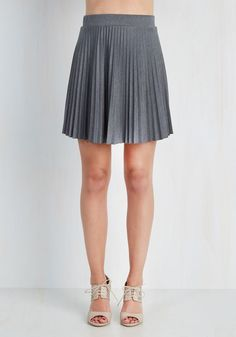 Accordion to You Skirt in Stone. You said it yourself - this accordion-pleated skirt has become an item you can't live without! #grey #modcloth