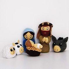 Crochet Christmas Decorations, Crochet Decoration, Christmas Crochet Patterns, Christmas Crafts, Diy Nativity, Christmas Nativity Scene, Christmas Scenes, Owl Head, Christmas Inspiration