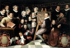 Otto van Veen · Autoritratto con la famiglia · 1584 · Louvre · Paris
