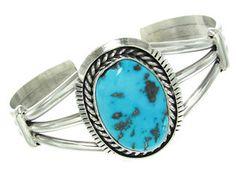 Eugene Belone Native American Sleeping Beauty Turquoise Bracelet GS56967