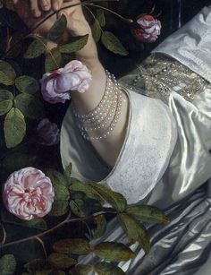 Abraham del Court and his wife Maria de Kaersgieter,detail,1654,Bartholomeus van der Helst.