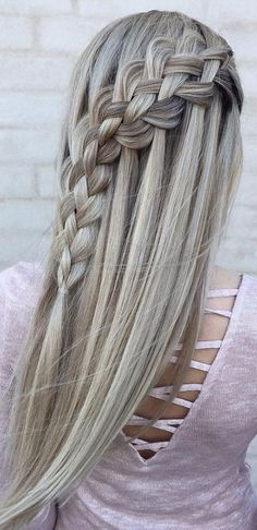 Hair Braiding Sideways on the head Manual // # Tutorial # Hair # Head - Frisuren lange haare - Hochzeit Quick Hairstyles For School, Wedding Hairstyles For Long Hair, Hairstyles For Round Faces, Trendy Hairstyles, Hair Wedding, Layered Hairstyles, Black Hairstyles, Short Haircuts, Wedding Makeup