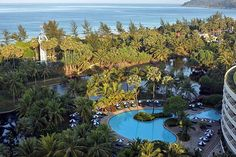 things to do in phuket Karon Beach and Hilton grounds from the Executive Lounge