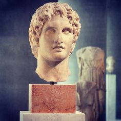 historyoftheancientworld:  Head  of Alexander The Great, found in 1886 near the Erechtheion. Beautiful portrait of  young Alexander, possibly an sculpture by Lysippos 336 BC. Acropolis  Museum.