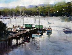 David Taylor. Quite Moments watercolor