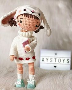 VK is the largest European social network with more than 100 million active users. Crochet Doll Pattern, Crochet Dolls, Crochet Patterns, Crocheted Toys, Cute Crochet, Beautiful Crochet, Homemade Toys, Doll Tutorial, Amigurumi Toys