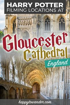 A must for every Harry Potter bucket list - Gloucester Cathedral in England, which was used as Hogwa Harry Potter Filming Locations, Harry Potter Tour, Bucket Lists, Gloucester Cathedral, Literary Travel, Destinations, London Tours, Cornwall England, Yorkshire England