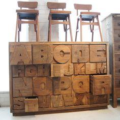 ABC CABINET アルファベット キャビネット - ノットアンティークスの収納家具通販 | リグナ東京