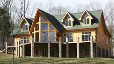 I love this floor plan and all of the windows.  eLogHomes.Com: Log Home Gallery