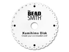 The Beadsmith Kumihimo Round Braiding Foam Plate with Instructions