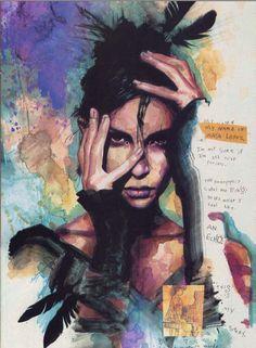David Mack watercolor, Echo- Maya Lopez.