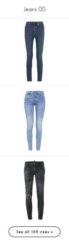 """""""Jeans 00"""" by anna-fozo ❤ liked on Polyvore featuring jeans, pants, bottoms, ysl, saint laurent, blue, super high rise skinny jeans, super stretchy skinny jeans, stretch skinny jeans and super high-waisted skinny jeans"""
