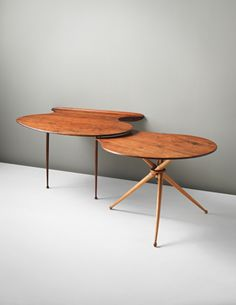 Peder Moos; Unique Walnut and beech Work Table, 1947.