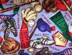 Buy Baseball quilt fabrics at Bear Paw Quilt Co. Baseball Fabric, Baseball Quilt, Baseball Bats, Bear Paw Quilt, Baseball Equipment, Bear Paws, Quilting Fabric, Quilts, Balls