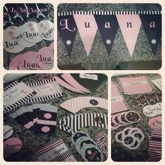 Adesivos e rótulos p/ latinha Mint to be, varal com nome, wrappers, paçoca, marmita, tags etc. Tema Paris.