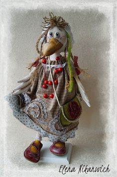 Lucky Numbers For Lottery, Ann Wood, Sewing Toys, Beatrix Potter, Soft Dolls, Bird Feathers, Textile Art, Diy And Crafts, Teddy Bear