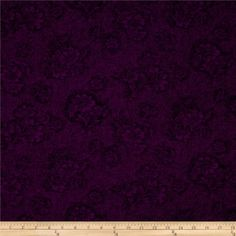 Nostalgia Dark Purple from @fabricdotcom  From Benartex, this basic cotton print fabric is perfect for quilting, apparel, and home decor accents. Colors include purple and black.