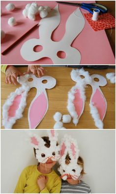 58 Fun and Creative Easter Crafts for Kids and Toddlers Häschen-Masken More from my site Fun Easter Crafts & Activities for Kids 46 More Creative Paper Plate Craft Ideas How To Make Easter Fun For Kids Easter Crafts For Toddlers, Spring Crafts For Kids, Bunny Crafts, Easter Crafts For Kids, Preschool Crafts, Art For Kids, Children Crafts, Art Children, Kids Diy
