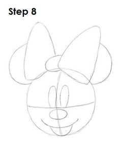 Draw Minnie Mouse Step 8