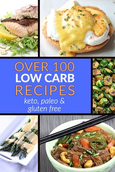 Get tons of low carb recipes perfect for a keto, paleo and gluten free diet! Quick breakfasts, easy lunches and healthy dinners all low in carbs and high in flavor! Pin it for later!
