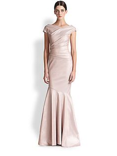 Teri Jon by Rickie Freeman - Shimmer Stretch Taffeta Gown Formal Wear, Formal Dresses, Reception Dresses, Mother Of Groom Dresses, Dress Outfits, Wedding Gowns, Evening Dresses, Bridesmaid Dresses, Bridesmaids