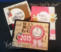 Stampin' Up! Only - Mom's Dad's & Grads Card Class by Melissa Davies @rubberfunatics  #stampinup #rubberfunatics