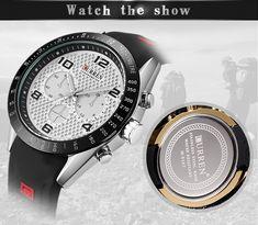 CURREN 8167 Silicone Strap Sport Quartz Watch Men Watch, Watches Online, Quartz Watch, Bag Accessories, Watches For Men, Sports, Stuff To Buy, Jewelry, Hs Sports