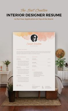 Creative resume template #coverletter #cv                              …