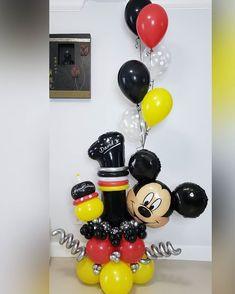 Festa Mickey Baby, Mickey Mouse Birthday Decorations, Mickey 1st Birthdays, Mickey Mouse Balloons, Fiesta Mickey Mouse, Mickey Mouse Clubhouse Birthday Party, Mickey Birthday, Balloon Decorations Party, Birthday Balloons