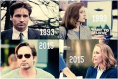 The X Files then and now David And Gillian, Top Tv Shows, Chris Carter, Dana Scully, Best Love Stories, Trust No One, Gillian Anderson, Orphan Black, It Goes On