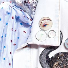 Trendy Jewelry Style: The Blue EYE. Blue EYE Brooch at Marc Jacobs Spring Summer 2016.