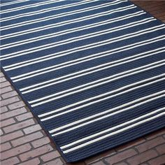Racing Stripe Indoor Outdoor Rug. Runner for front porch?