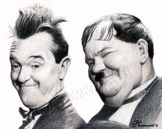 skethes of lural and hardy | Laurel and Hardy by ~ ted1air