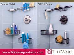 Shallow Corner, Extra Deep Corner, Combination Extra Deep Shampoo Baskets