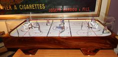 SoHo Tournament Table Hockey...search on google and order...these are top of the line boards Wayne Gretzky, Hockey Games, Pinball, Soho, Eagle, Boards, Search, Model, Fun