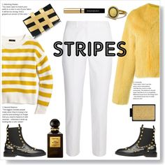 Stripes and stripes :) by gul07 on Polyvore featuring J.Crew, Liska, Michael Kors, Balenciaga, Charlotte Olympia, Yves Saint Laurent, Tom Ford and BoldStripes