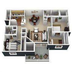 Camden Touchstone - Floorplan - View Plan - '3/2' - '3.2'