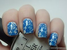 Lost in Lacquer: Blue and White Porcelain Nails