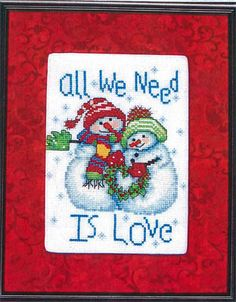 All We Need is Love - Cross Stitch Pattern